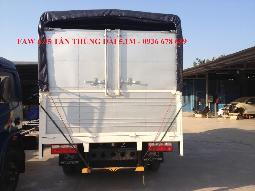 Bán xe tải Faw 6.95 tấn / Faw 6.95 tấn thùng dài 5m1 / giá rẻ nhất thị trường