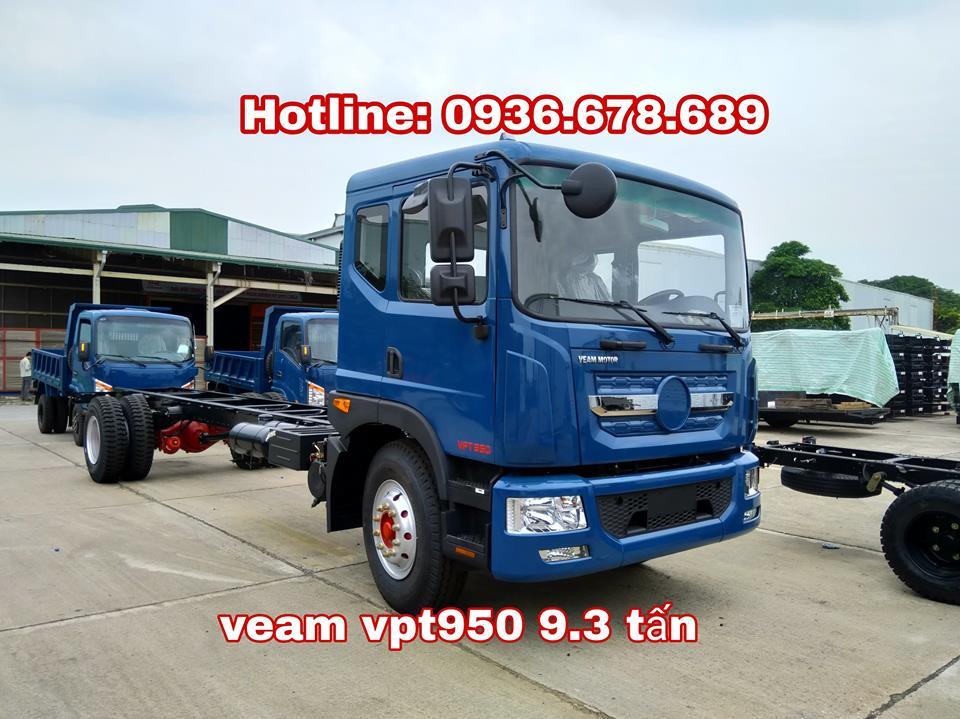 Xe tải Veam VPT950 9.5 tấn, thùng dài 7.6m, máy Cumins, hỗ trợ trả góp