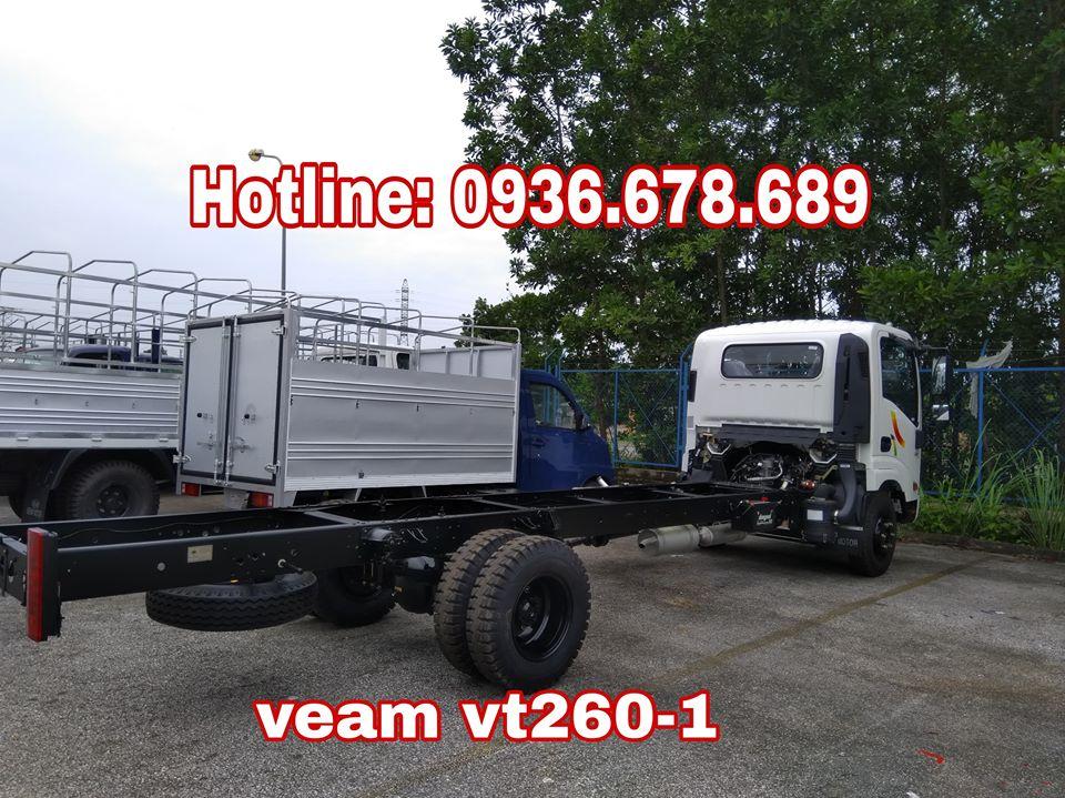 Bán xe tải Veam VT260-1 thùng dài 6m, động cơ Isuzu, 1.95 tấn, giá rẻ