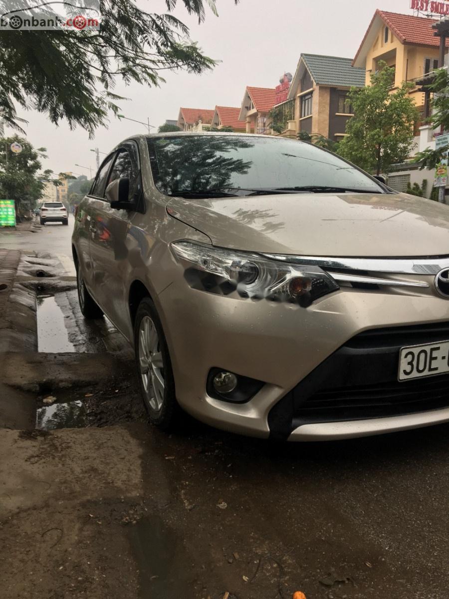 Cần bán xe Toyota Vios 1.5G 2016, màu vàng, số tự động