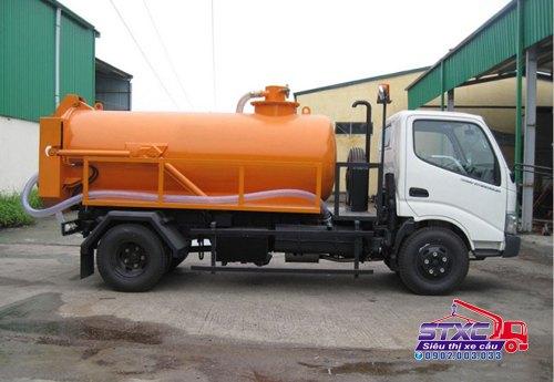 Xe hút chất thải Hino 4 khối, tải trọng 4T2