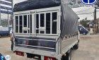 Xe tải JAC 1t25 thùng bạt inox mở bửng hông.