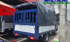 Xe tải JAC 1t25 thùng mui bạt Inox mở bửng.