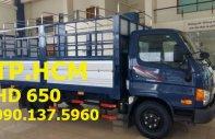 TP. HCM Hyundai HD650 đời mới, màu xanh lam, mui bạt inox 430 giá 618 triệu tại Tp.HCM