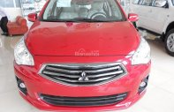 Bán Mitsubishi Attrage tại Đà Nẵng, màu đỏ, nhập khẩu giá cạnh tranh, LH Quang: 0905596067, hỗ trợ vay giá 450 triệu tại Đà Nẵng