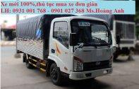 Xe tải Veam VT150 1.5 tấn, thùng mui bạt giá 355 triệu tại Kiên Giang
