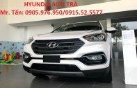 Hyundai Sơn Trà bán ô tô Hyundai Santa Fe 2018, màu trắng, nhập khẩu 3 cục Hàn Quốc, xe 7 chỗ Đà Nẵng giá 898 triệu tại Đà Nẵng