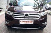 Bán Toyota Highlander 2.7 SE năm 2011, màu đỏ, nhập khẩu giá 1 tỷ 170 tr tại Hà Nội