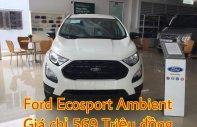 Bán Ford Ecosport Ambitene màu trắng sản xuất năm 2018, hỗ trợ bảo hiểm thân vỏ, gói phụ kiện, L/h: 0963483132, giao ngay giá 569 triệu tại Hà Nội