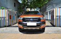 Bán Ford Ranger Wildtrak 3.2 AT 4x4 sản xuất 2017 màu vàng cam, biển Hà Nội giá 875 triệu tại Hà Nội