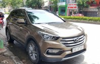 Hyundai Santa Fe 2.4 4WD sản xuất 2017, màu nâu xe gia đình đi rất giũ gìn. Hỗ trợ trả góp 70% giá 1 tỷ 79 tr tại Hà Nội