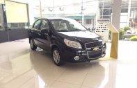 Bán ô tô Chevrolet Aveo 1.4 MT 2018, màu đen, giảm mạnh 60 triệu, trong tháng 7 âm, sẵn xe giao ngay giá 399 triệu tại Bắc Giang