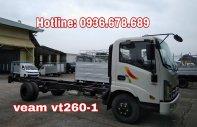 Bán xe tải Veam Vt260-1 thùng dài 6m, tải 1t9, động cơ Isuzu giá 455 triệu tại Hà Nội