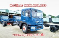 Xe tải Veam VPT950 9.5 tấn, thùng dài 7.6m, máy Cumins, hỗ trợ trả góp giá 723 triệu tại Hà Nội