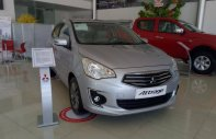 Mitsubishi Attrage đời 2018 rẻ Tam Kỳ, màu bạc, nhập khẩu nguyên chiếc, 375tr giá 375 triệu tại Quảng Nam
