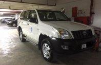 Bán xe Prado GX 3.0, 2 cầu, số sàn, màu trắng, nội thất nỉ màu kem, máy dầu, đời 2005, 08 chỗ giá 630 triệu tại Hà Nội