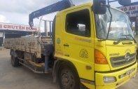 Bán xe Hino 8 tấn gắn cần cẩu Tadano 504 màu vàng đời 2015 giá 1 tỷ 300 tr tại Tp.HCM