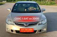Bán xe Honda Civic 1.8AT năm sản xuất 2008, màu ghi vàng giá 360 triệu tại Hà Nội
