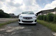 Tặng quà nhiệt tình - Hỗ trợ hết mình, Mitsubishi Attrage CVT Eco 2019, màu trắng, giá cạnh tranh giá 425 triệu tại Tp.HCM