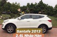 Bán Hyundai Santa Fe 2.4L đời 2013, màu trắng, nhập khẩu giá cạnh tranh giá 745 triệu tại Hà Nội