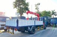 Hyundai Mighty Ex8L thùng lửng có gắn cẩu unic 3 tấn 4 đốt, tải trọng 7 tấn 4 thùng dài 5m3 giá 1 tỷ 460 tr tại Hà Nội